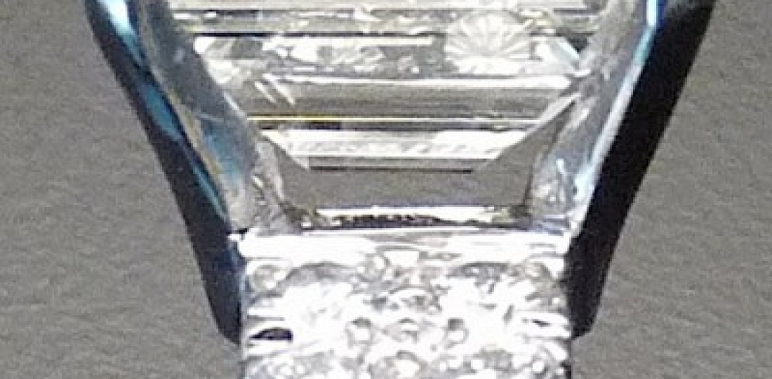 Emerald Cut Diamond and 18kt White Gold Ring, Detail